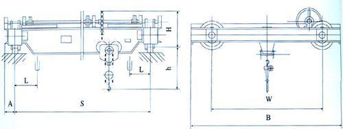 sl型手动单梁式起重机结构图